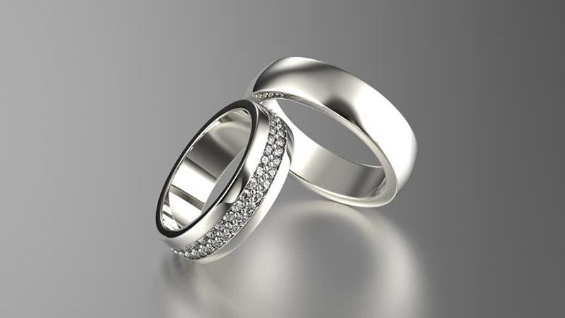 Nhẫn cưới bạch kim Italy 750 sẽ tôn lên được vẻ đẹp của những cặp vợ chồng