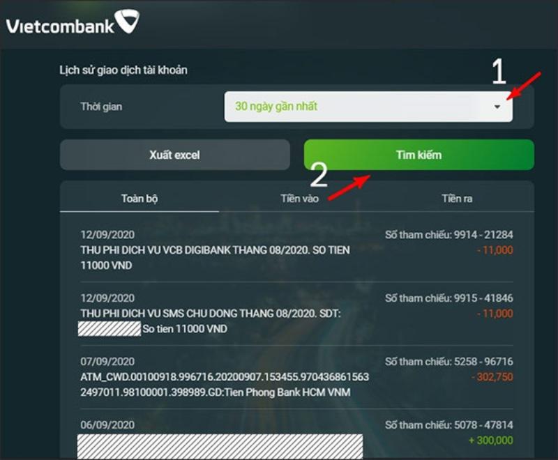 Nguyên nhân nên kiểm tra lịch sử giao dịch VietcomBank