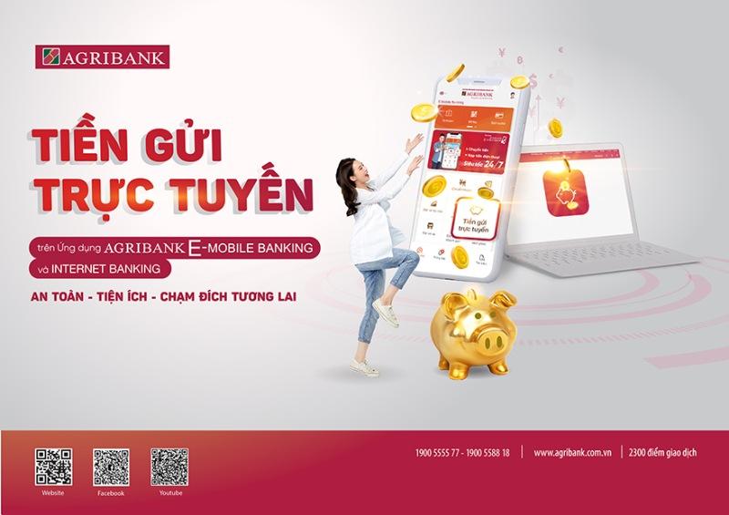 Rút tiền từ sổ tiết kiệm Agribank khi gửi tiền trực tuyến