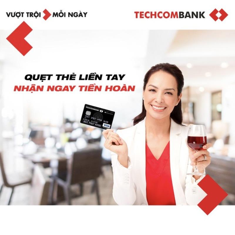 Mở thẻ hoàn tiền Techcombank để hưởng nhiều ưu đãi hấp dẫn