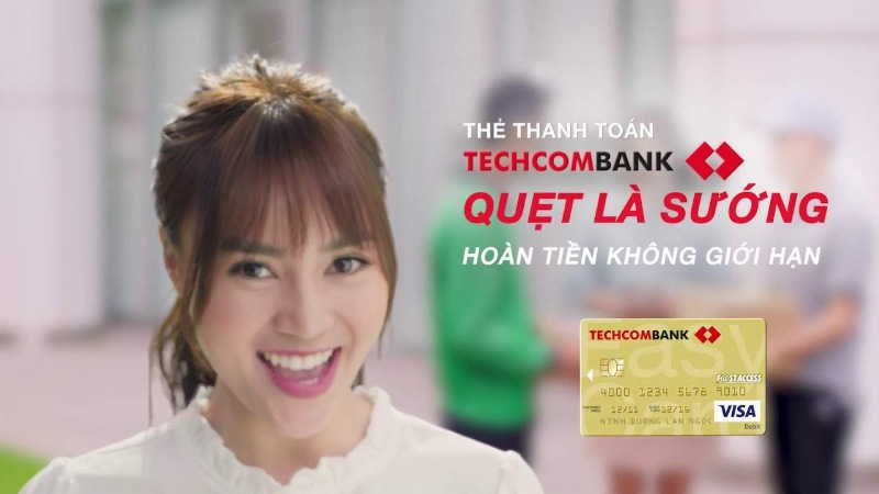 Ngân hàng Techcombank đã triển khai chương trình hoàn tiền lên đến 10%