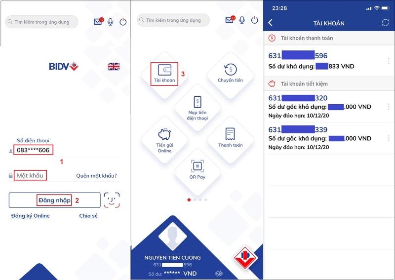 Tra cứu tài khoản BIDV hoặc kiểm tra tài khoản BIDV