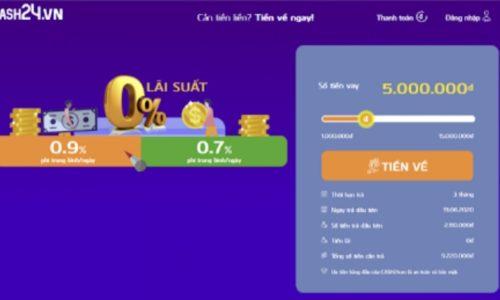 Vay tiền Cash24 online như thế nào?